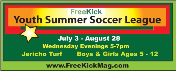 Summer soccer sign
